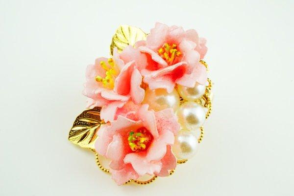 画像1: フラージュ「しだれ桜」のブローチキット (1)